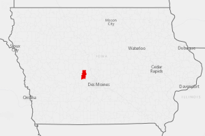 A single ZCTA in western Iowa was identified as a hotspot of elevated blood lead levels in newborns.